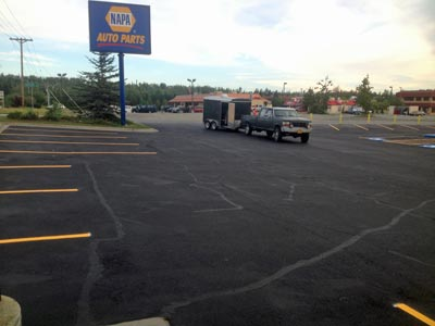 Striping Commercial parking lots by Valley Seal Coat