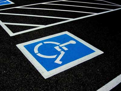Parking lot handicap signs