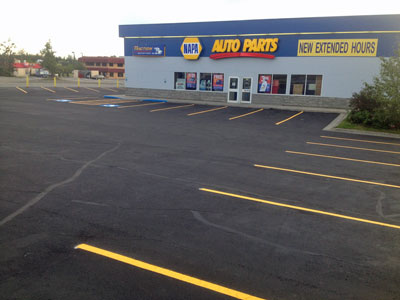 Valley Seal Coat - Striping Business Parking Lots