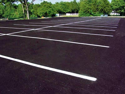 Sealing Parking Lots and Striping by Valley Seal Coat